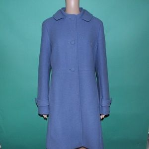 Talbots A-Line Princess Blue Pea Coat